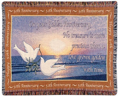 Golden Anniversary Quote Throw Blanket
