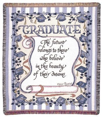 Beautiful Gift Idea for the Graduate - A Quote Throw Blanket