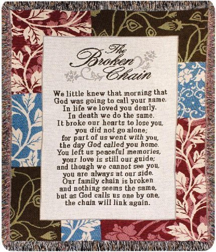 The Broken Chain Quote Throw Blanket