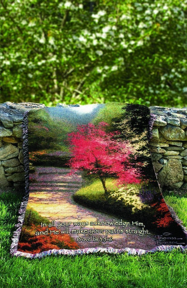 A Lovely Decorative Thomas Kinkade Quote Throw