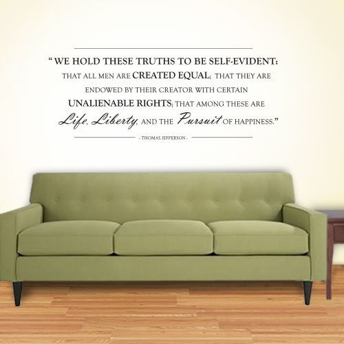 Declaration of Independence Wall Quote