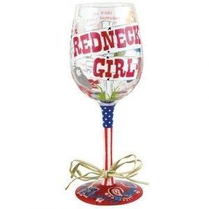 Rednick Girl Wine Glass