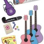 Bubble Gum Pink Acoustic Guitar for the Aspiring Musician in the Family