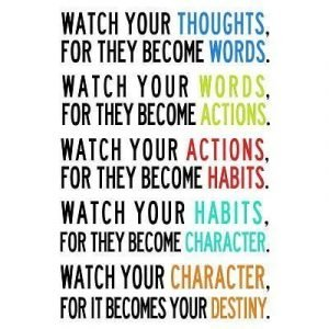 Watch Your Thoughts For They Become Words