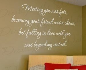 Meeting You Was Fate Wall Decal