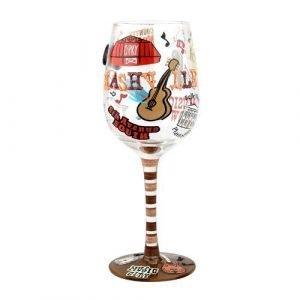 Grand Ole Opry Wine Glass
