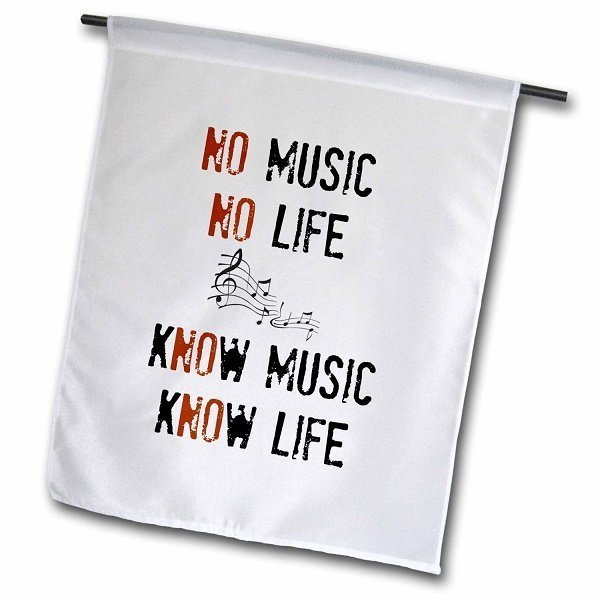 Garden Flag with Music Quote